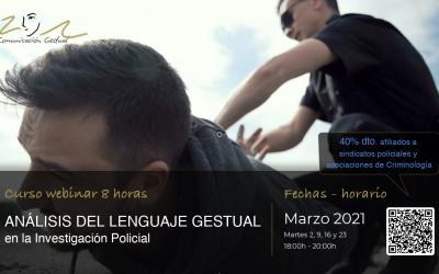 Curso online Lenguaje Gestual en Investigación Policial