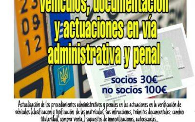 Curso vehículos y documentación. Infracciones en vía penal y administrativa.